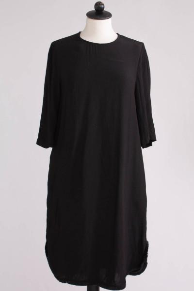 Blå klänning med svarta sidor, H&M, stl 44