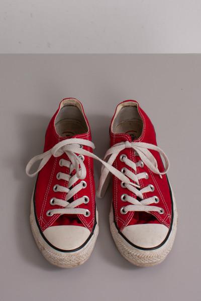 Röda tygskor, Converse, stl 37,5