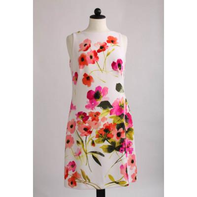 Ralph Lauren, blommig klänning, stl S