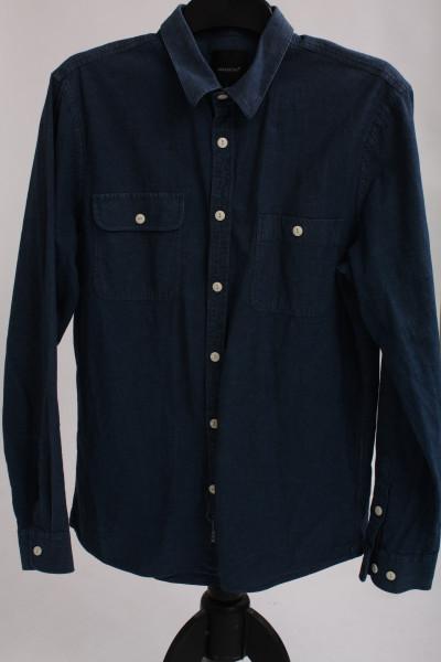 Blueprint, bomullsskjorta i tunn denimkänsla, stl M