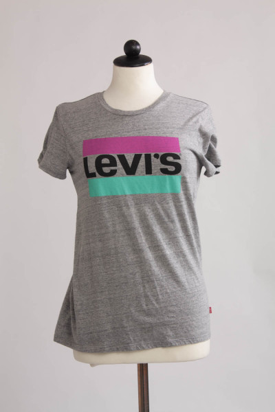 Levis, t-shirt med tryck, stl xs