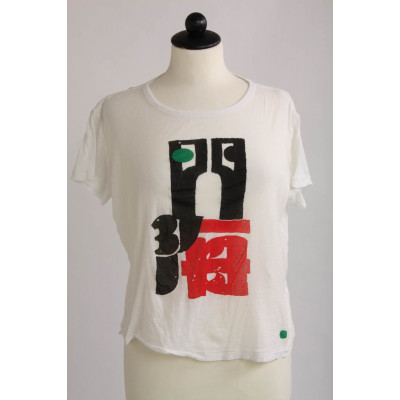 H&M Studio, t-shirt med print, stl S