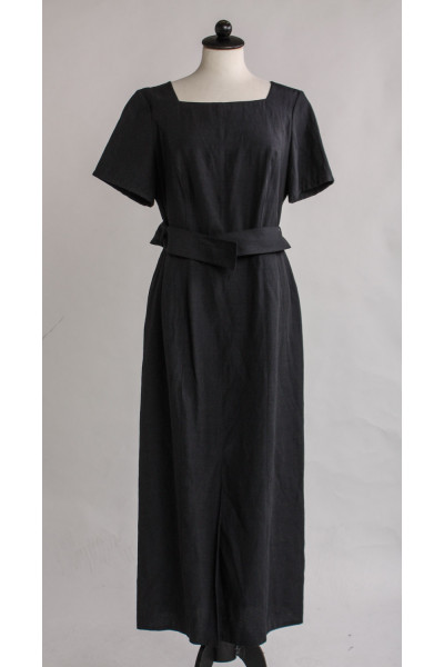 Vintage, lång klänning i lin och viskos, stl M