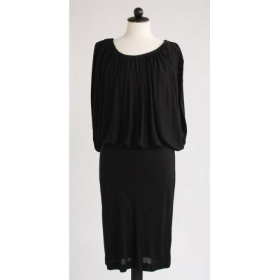 Karen By Simonsen. svart klänning i viskos, stl.S