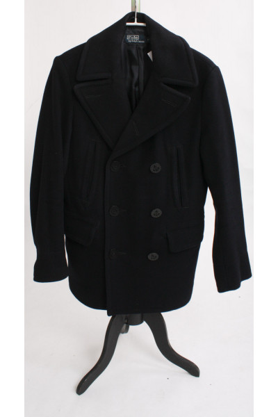 Polo Ralph Lauren, svart fodrad ulljacka, stl S (unisexmodell)