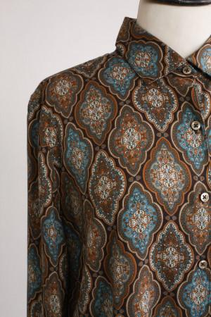 Stenströms, mönstrad viskosskjorta, stl XL