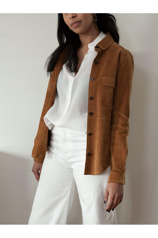 Läderskjorta, Zara Premium, stl S