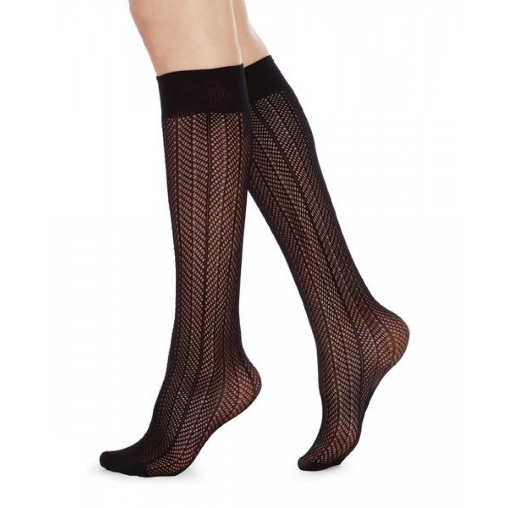 Astrid fishnet Micro, knee-high - One size, Swedish Stockings