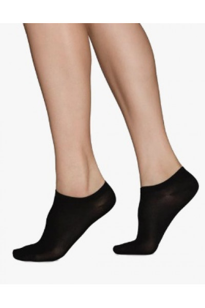 Sara Sneaker sock Black, Swedish Stockings