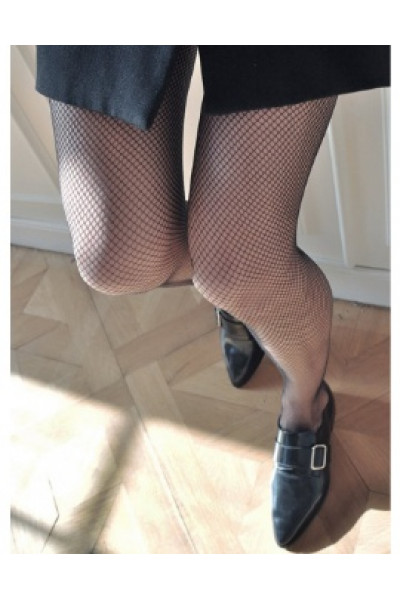 Liv net tights Black, strumpbyxor, Swedish Stockings