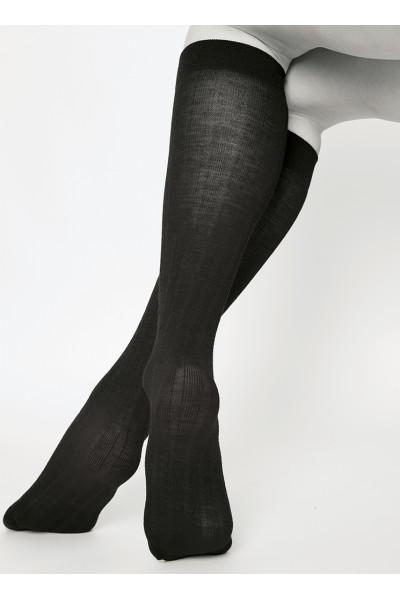Freja Bio Wool knee-highs black - One size, Swedish Stockings