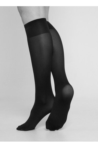 Irma support knee-highs black - One size, Swedish Stockings