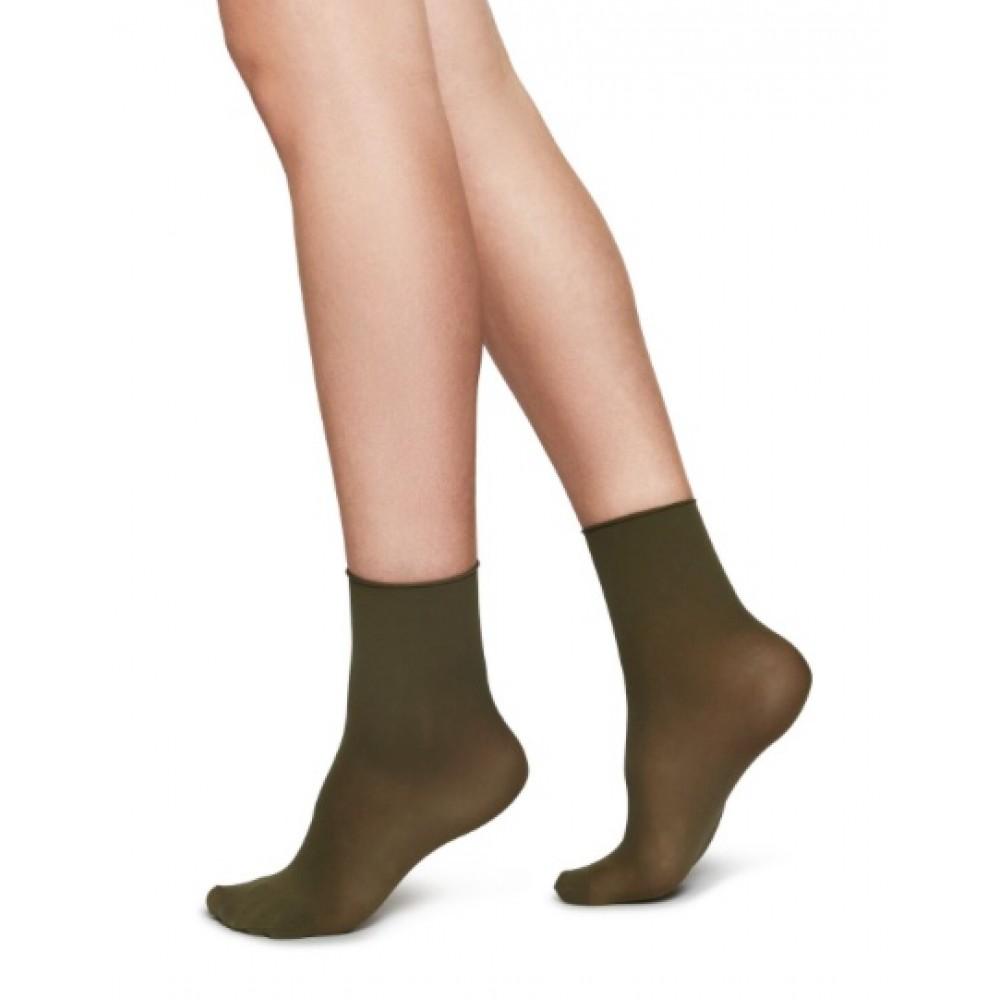 Judith Premium socks - 2-pack - Khaki,  Swedish Stockings