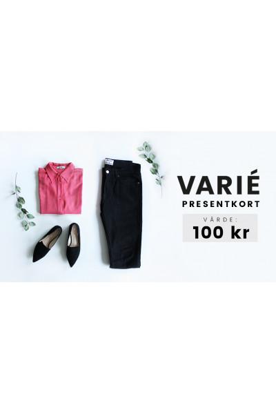 Presentkort hos VARIÉ- 100 kronor
