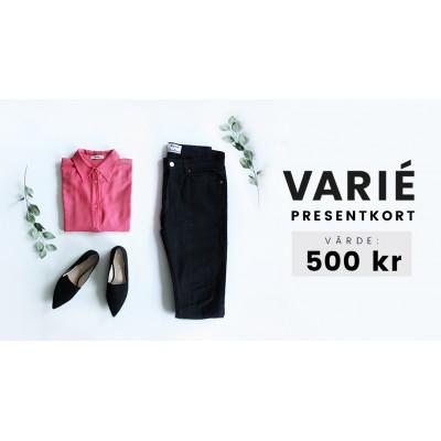 Presentkort hos VARIÉ- 500 kronor