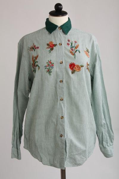 Casey&Max, vintageskjorta bomull med brodyr, stl S