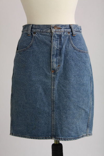Vintage, jeanskjol, stl S/M