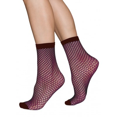 Vera net Ankle sock (wine) strumpbyxor, Swedish Stockings