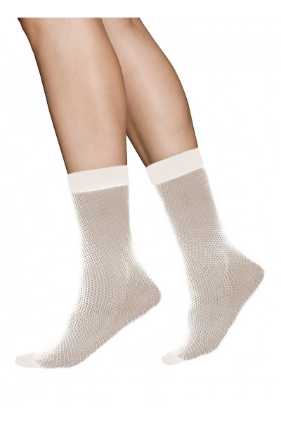 Vera net Ankle sock (beige) strumpbyxor, Swedish Stockings